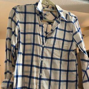 JCrew boy fit flannel button-down